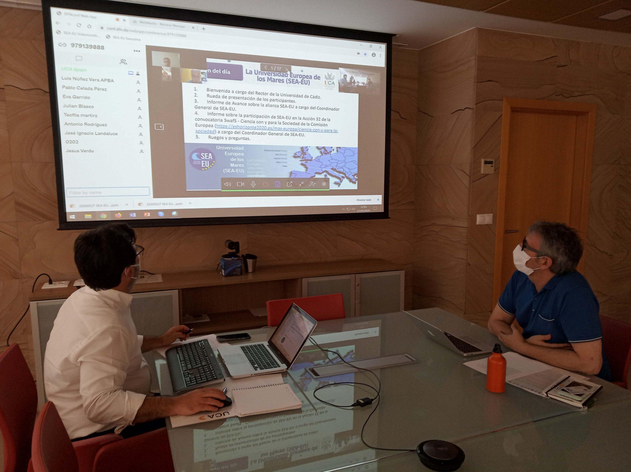 El Rector de la UCA y el Delegado del Rector de SEA-EU se reúnen con sus Partners Asociados
